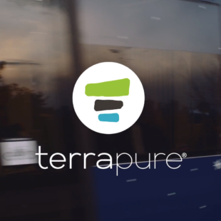 Terrapure's company logo as seen at the end of the video