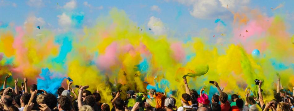 Pride colours for LGBTQ+ awareness